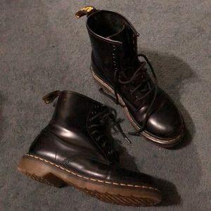 "Dr Martens black boots size 10 ""1460 8 eye"""